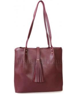 Модная женская сумка из экокожи от SK Leather Collection SK286-WINE-RED