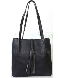 Модная женская сумка из экокожи от SK Leather Collection SK286-BLACK