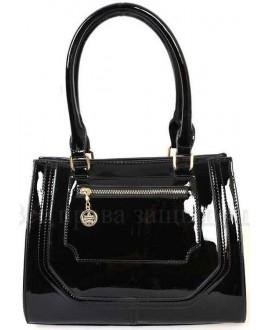 Модная женская сумка из экокожи от SK Leather Collection SKBE237-BLACK