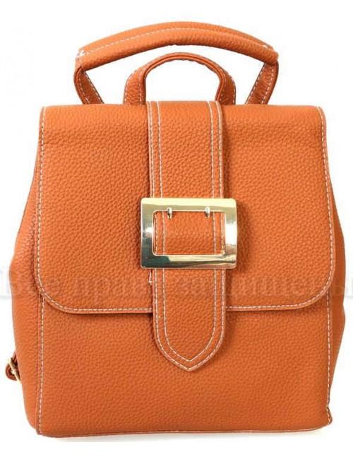 Компактный женский рюкзак из экокожи от SK Leather Collection SK7510-BROWN