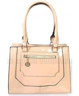Модная женская сумка из экокожи от SK Leather Collection SKBE237-BEIGE