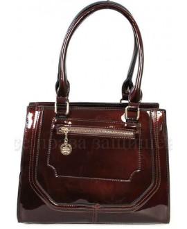 Модная женская сумка из экокожи от SK Leather Collection SKBE237-BROWN