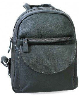 Женский стильный кожаный рюкзак серого цвета от SK Leather Collection SK-1007-GREY