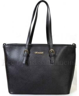 Стильная женская сумка из экокожи от SK Leather Collection SK1112-BLACK