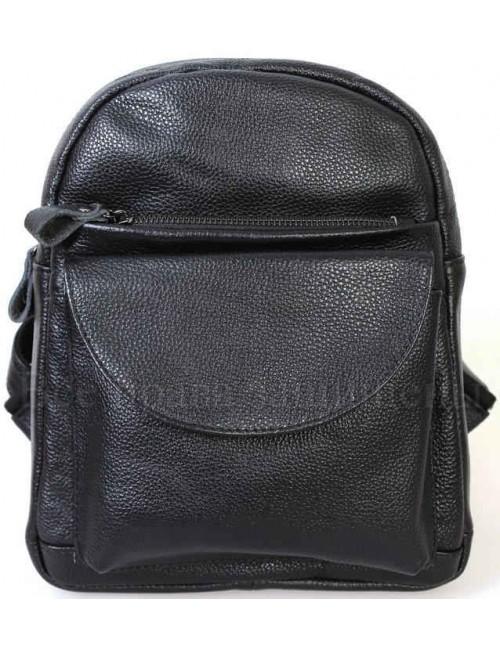 Женский стильный кожаный рюкзак черного цвета от SK Leather Collection SK-1007-BLACK