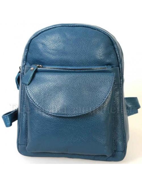 Женский стильный кожаный рюкзак синего цвета от SK Leather Collection SK-1007-BLUE