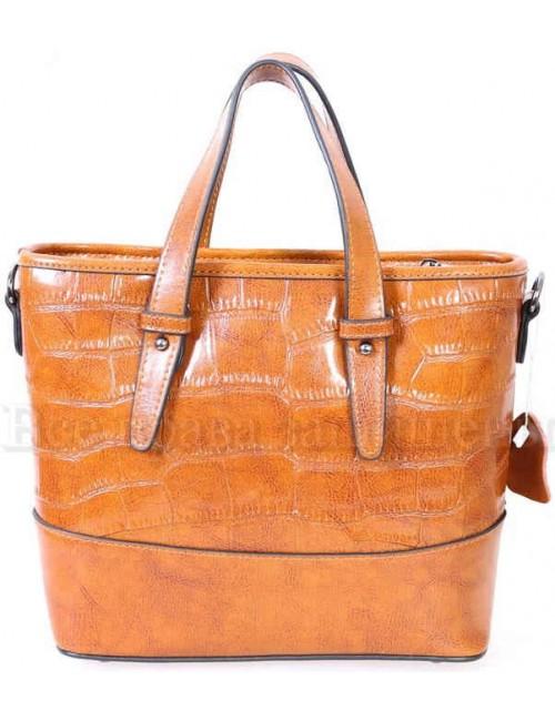 Стильная женская кожаная сумка рыжего цвета от SK Leather Collection SK6011-GINGER