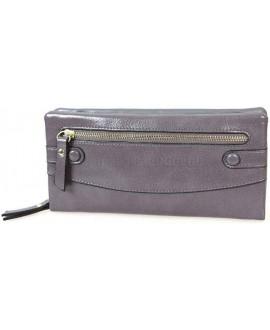 Стильный женский кошелек из экокожи серого цвета от H.Verde HVW-5328-GREY
