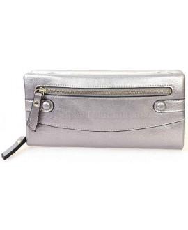 Стильный женский кошелек из экокожи серебристого цвета от H.Verde HVW-5328-SILVER