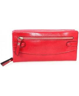 Стильный женский кошелек из экокожи красного цвета от H.Verde HVW-5328-RED