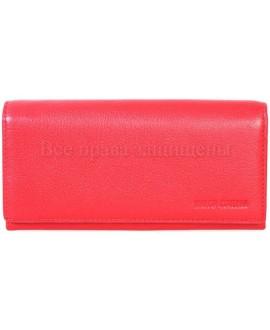 Модный кожаный кошелек красного цвета от Marco Coverna MC411-2-RED