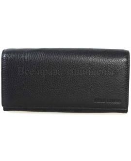 Стильный кожаный кошелек унисекс от Marco Coverna MC411-1-BLACK