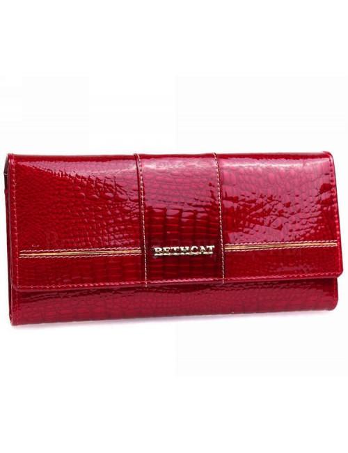 Стильный женский кошелек лаковый красного цвета BETH CAT кошельки оптом Одесса 7 км кошельки женские оптом AE045RED(BETHCAT)