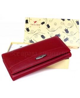 Женский кошелек   кожаный Tailian T826 RED women красный
