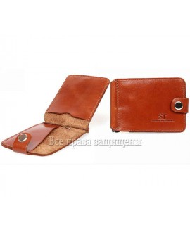 Кожаный зажим для купюр ZS-010SIENNA