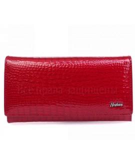 Красный женский кошелек из натуральной лаковой кожи AE634 RED