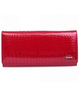 Красный престижный женский кошелек двойного сложения из кожи AE150 RED
