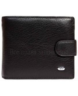 Черное матовое мужское портмоне на застежке в категории кошельки оптом купить M2men