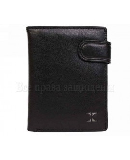 Вертикальный кожаный кошелек мужской из матовой кожи черного цвета мир кошельков опт B601BLACK