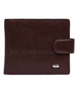 Стильное портмоне из коричневой кожи горизонтального типа в категории кошельки оптом дешево М3brown