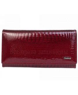 Кожаный кошелек- клатч бордовый женский в категории кошельки оптом Одесса 7 км AE634 JUJUBE RED
