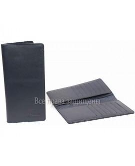 Стильный купюрник мужской синий кожаный KS-014BLUE