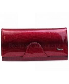 Женское портмоне красного цвета на кнопке AE190 JUJUBE RED