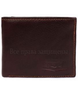 Кошелек- бумажник мужской кожаный коричневый в категории кошельки оптом купить 208COFFEE