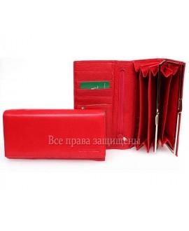 Женский кошелек Марко Коверна кожаный красного цвета MC-2030-2 RED