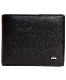 Черное матовое кожаное портмоне без застежки в категории кошельки оптом Одесса 7 км M9men