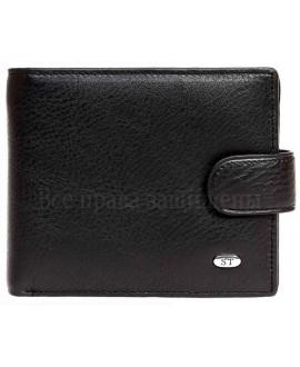 Черное матовое кожаное портмоне в категории кошельки оптом купить M4men