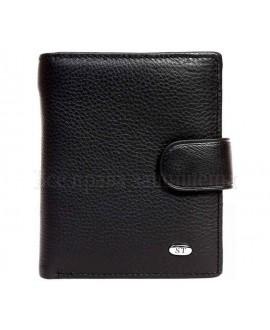 Мужское черное кожаное портмоне на механической застежке в категории кошельки оптом купить M31men