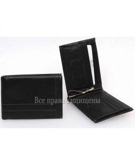 Зажим для денег мужской с монетницей на магните из натуральной кожи от MD-016-555A-5 Leather