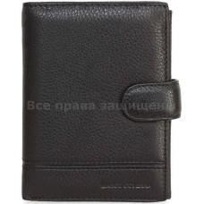 Мужской кошелек из натуральной кожи Marco Coverna (MC-N1-1004 BLACK)