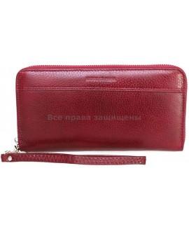 Бордовый женский кошелек из натуральной кожи (MC-N3-801 RED WINE)