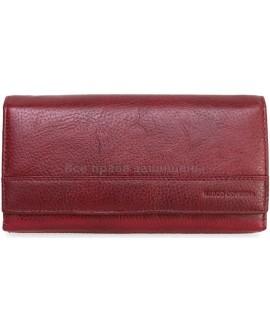 Бордовый женский кошелек из натуральной кожи Marco Coverno (MC-N3-1013 RED WINE)