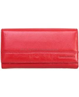 Красный кошелек из натуральной кожи Marco Coverna (MC-N3-1013B  RED)