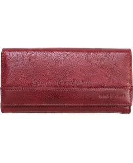 Модный бордовый кошелек из натуральной кожи ( MC-N3-1013B  RED WINE)