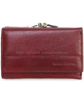 Бордовый кошелек из натуральной кожи (MC-N3-1014 RED WINE)