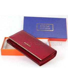 Красный женский кошелек из натуральной кожи (bc-m10-150-red)
