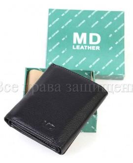 Модный кошелек из натуральной кожи (MD-618-A-BLACK)