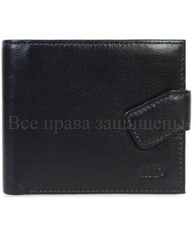 Классический мужской кошелек из натуральной кожи (MD-132-A-BLACK)