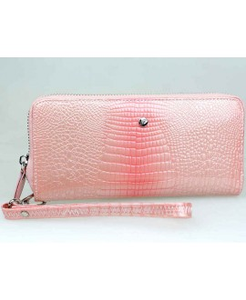 Розовый лаковый кошелёк AE38-PINK