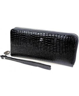 Женский кожаный кошелек- клатч Salfeite из натуральной кожи AE38BLACK