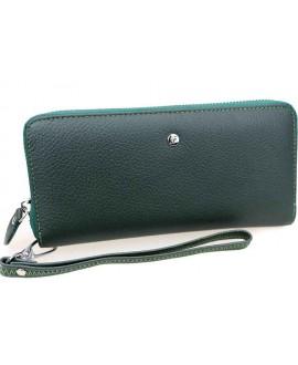Кожаный клатч зелёный Salfeite W38-GREEN