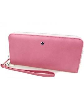 Розовый кожаный клатч оптом W38-1-PINK