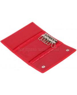 Стильная женская ключница из натуральной кожи красного цвета Marco Coverna Collection (MC-2063-2-opt) в категории купить оптом ключницы Украина