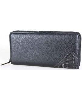 Качественный мужской портмоне-клатч черного цвета