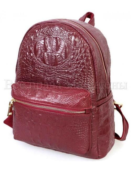 Рюкзак из натуральной кожи SK-Leather SKMBP-06-Red
