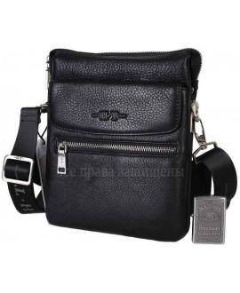 Мужская кожаная сумка черного цвета с визитницей HT-49645-3-opt в категории сумки оптом Украина
